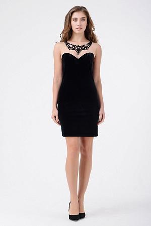 Купить Коктейльное платье из велюра