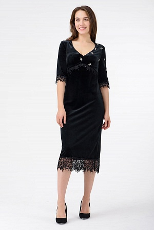 Купить Коктейльное велюровое платье