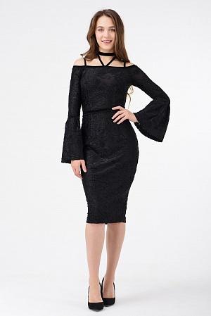 Купить Нарядное платье с открытыми плечами