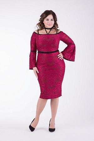 Купить Коктейльное платье с чокером, большие размеры