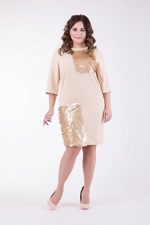 Купить Платье с пайетками, большие размеры