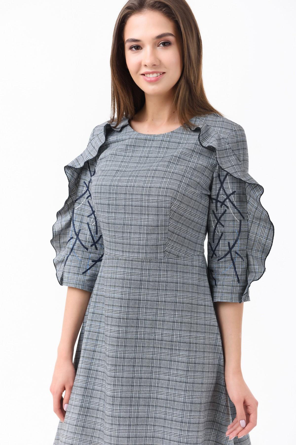 ff04d4140bf0 Осеннее платье с рюшами RM1208-18DD, голубой, нажмите для увеличения