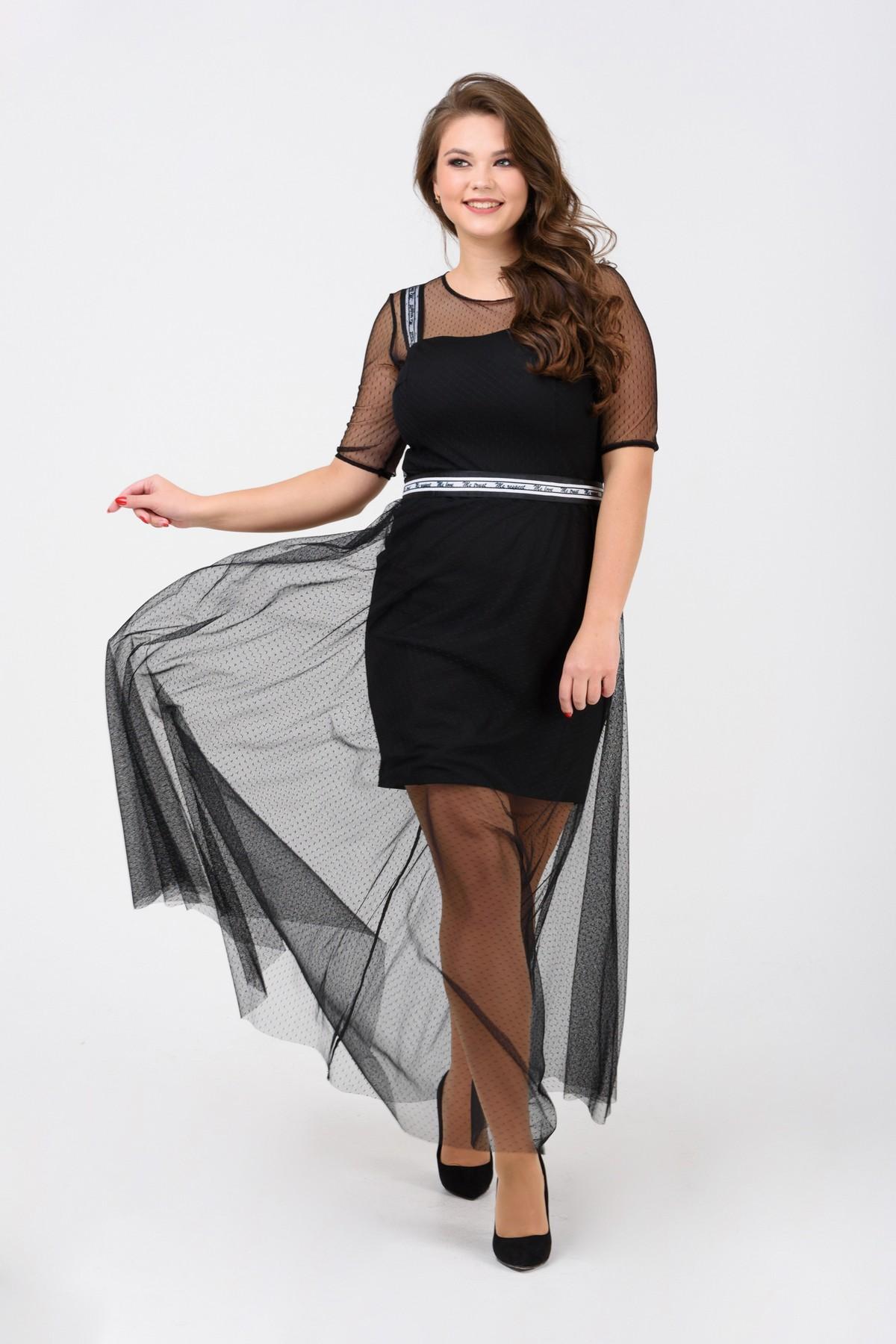 e45ebf9e932 Вечернее двухслойное платье
