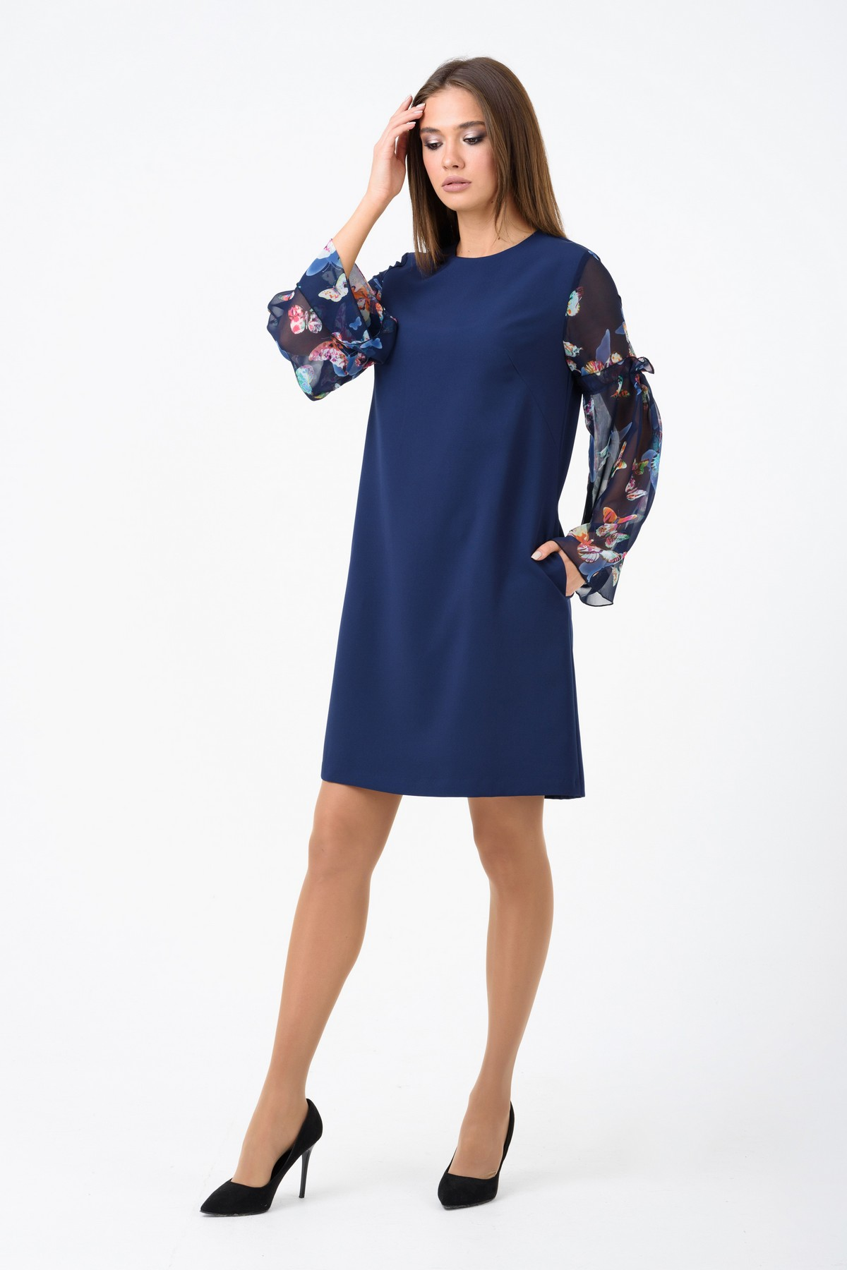 eb150fba011 Классическое платье А-силуэта RM1244-1-18VC
