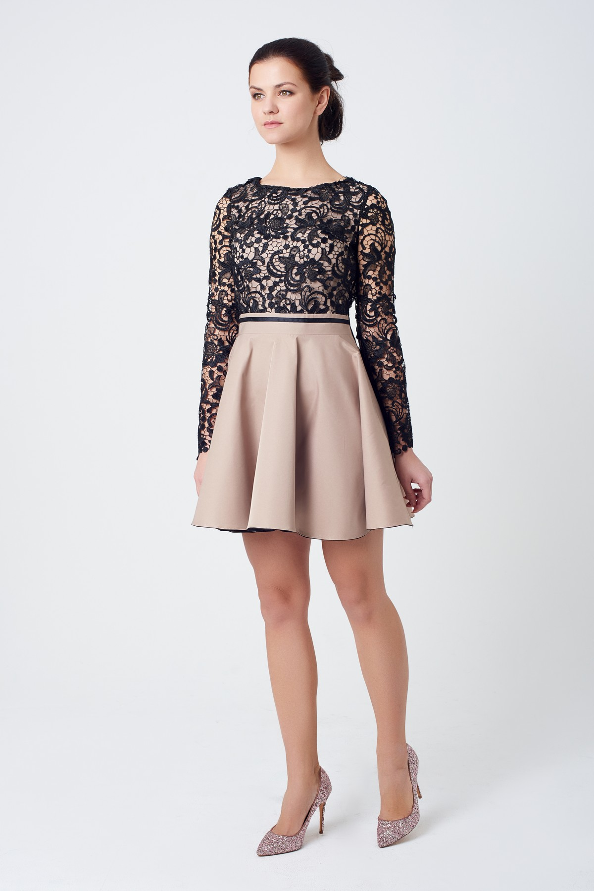 61e4608f3edf5f9 Нарядное платье с гипюром | Купить коктейльное платье за 2 090 грн ...
