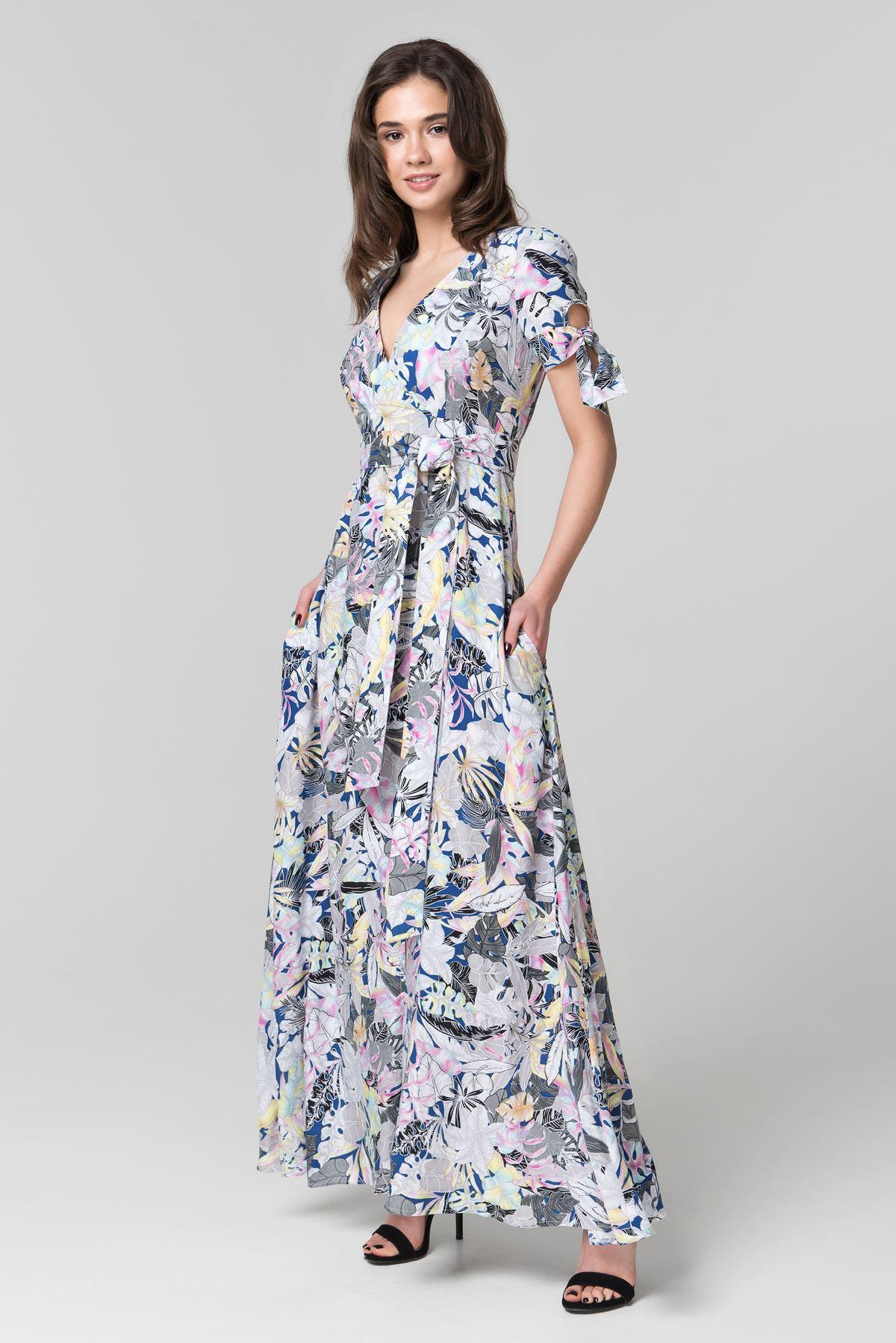 5bb0e8d3188 Летнее платье в пол с поясом