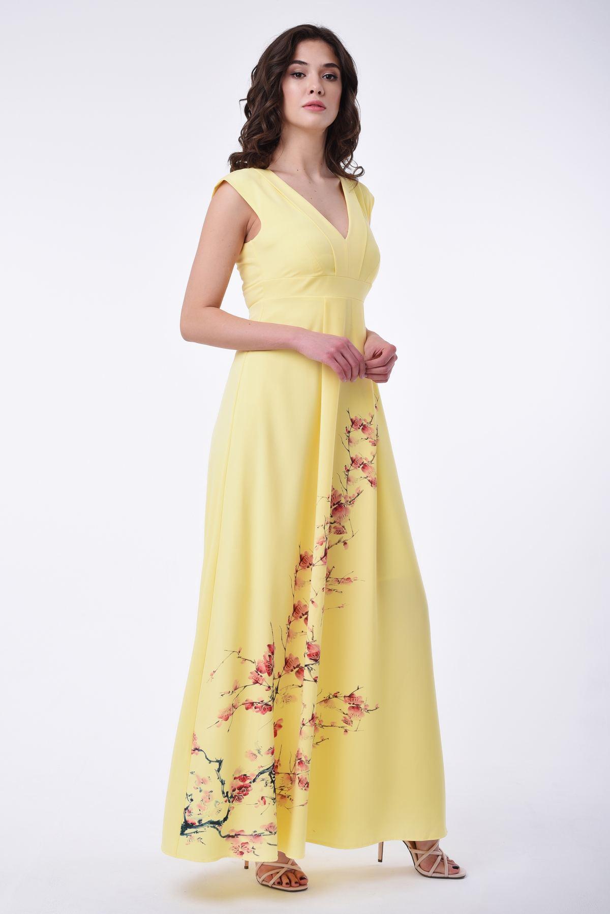 958a1255869 Длинное летнее платье-сарафан с принтом
