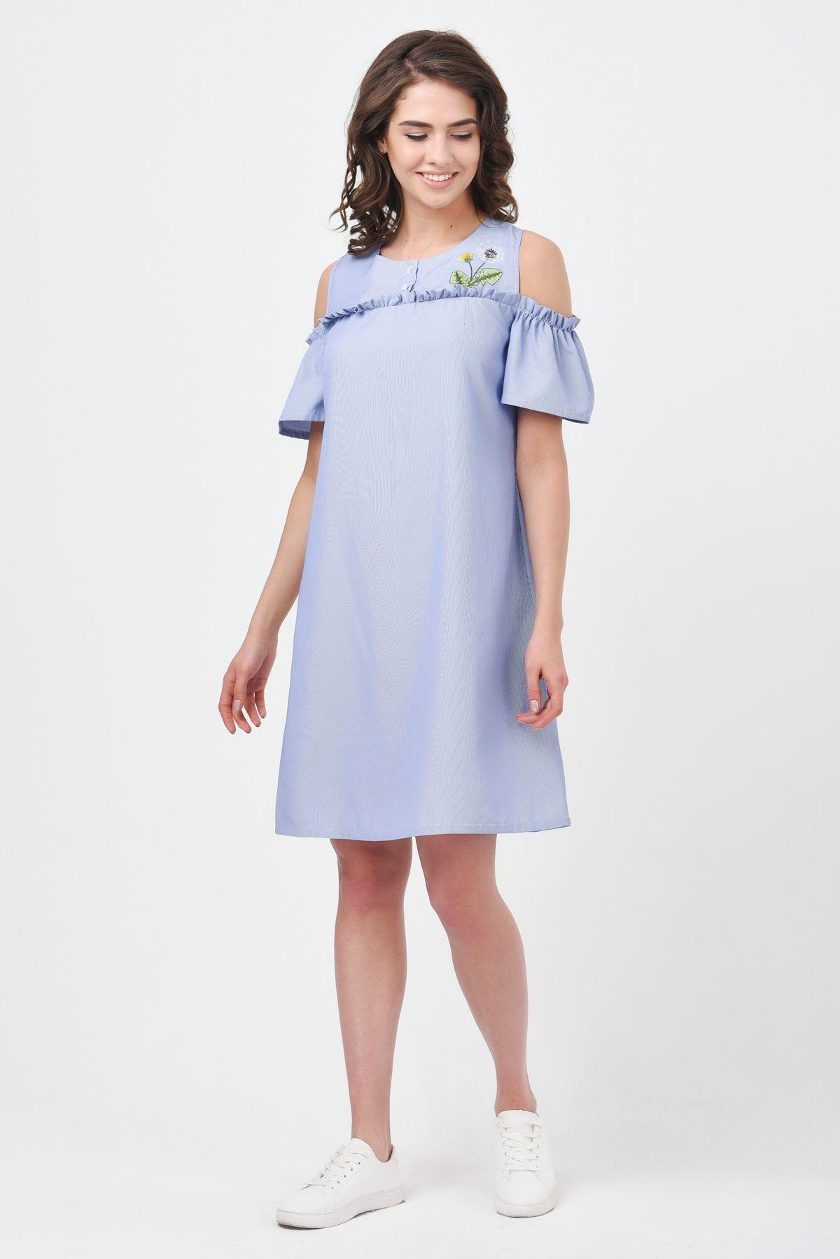 fbe0968e96a Летнее платье с открытыми плечами RM1186-18DD