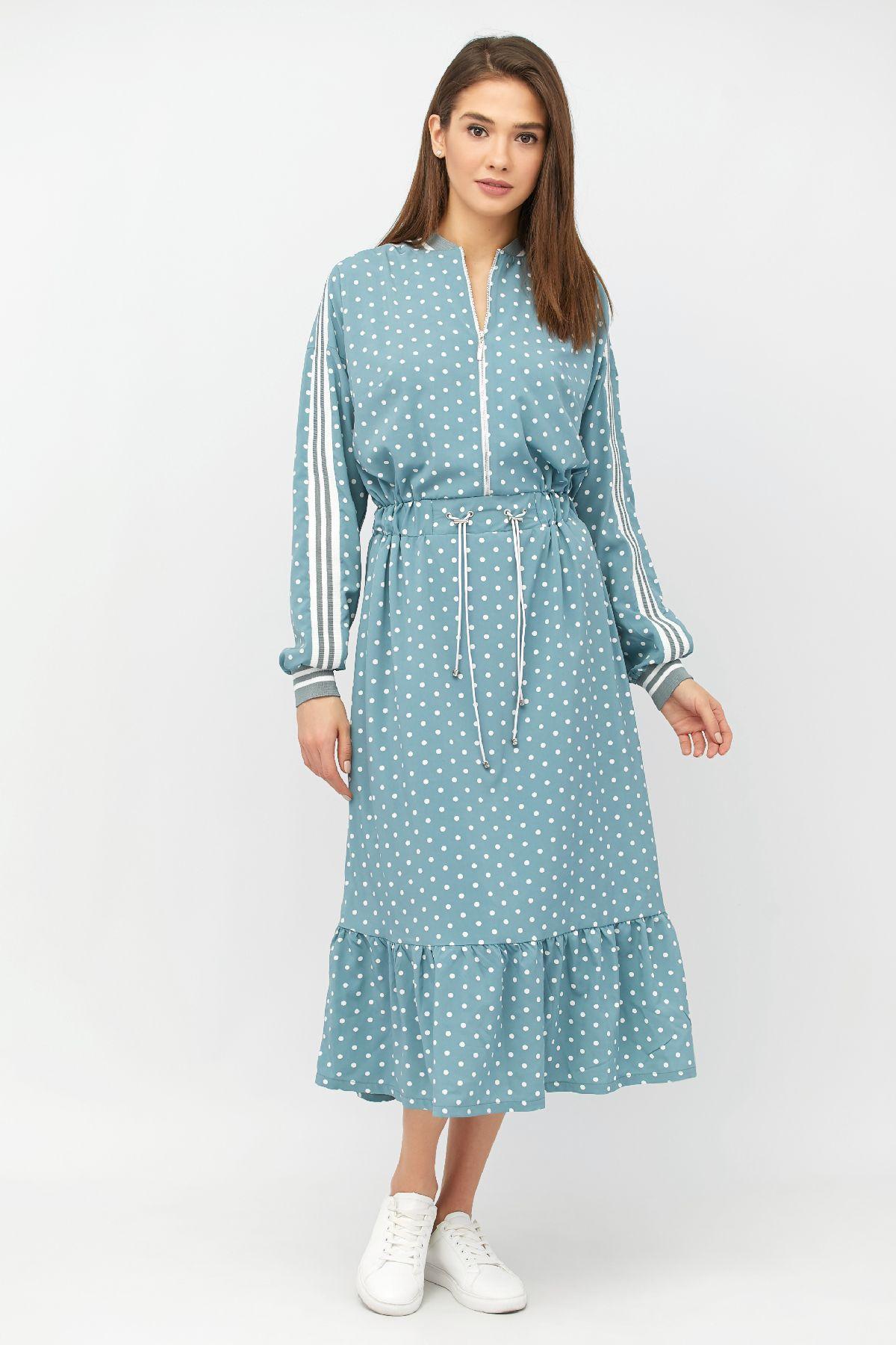49f2a7a1e37 Длинное платье в горох