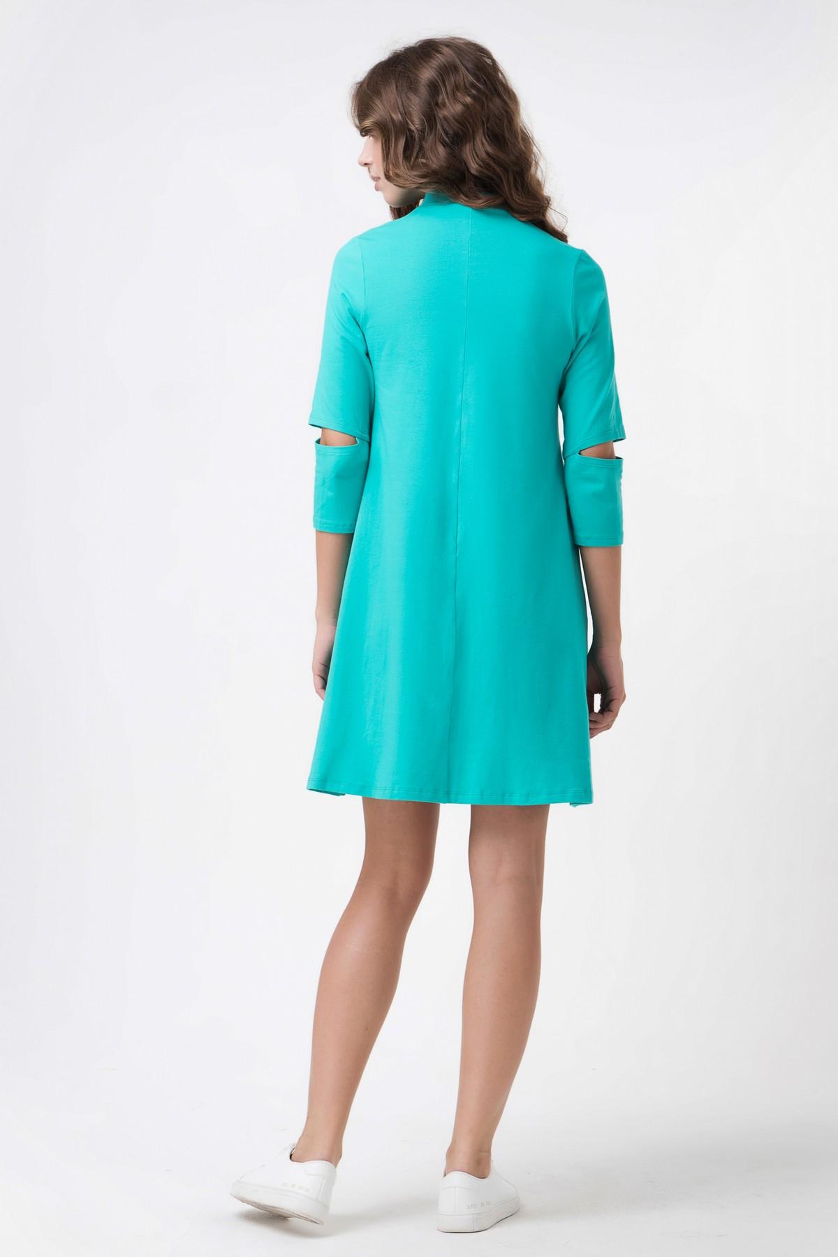 5dc91488664f86a Осеннее короткое платье с разрезом на рукавах | Купить осеннее ...