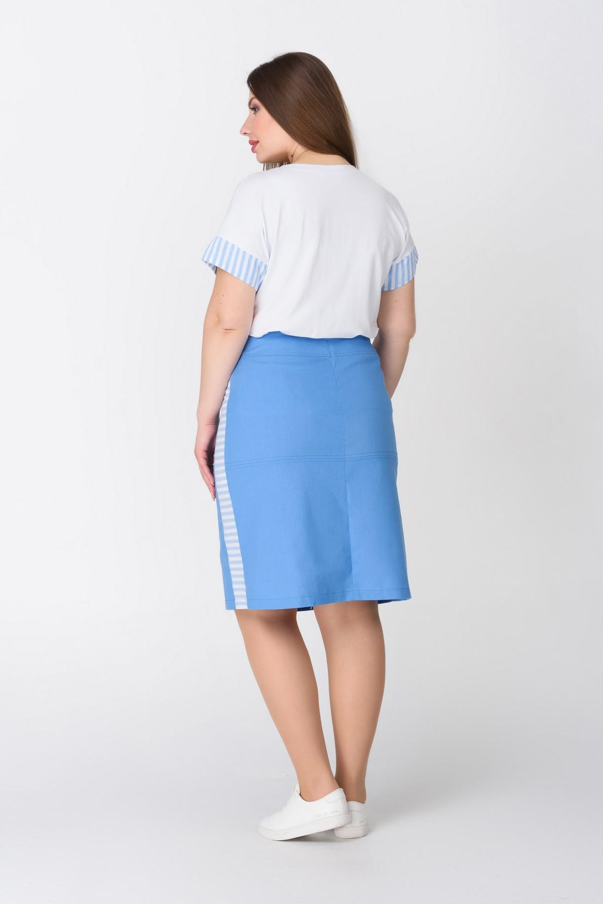 6abaf8c3d87 Голубая юбка ниже колена RM1292-B-19DU