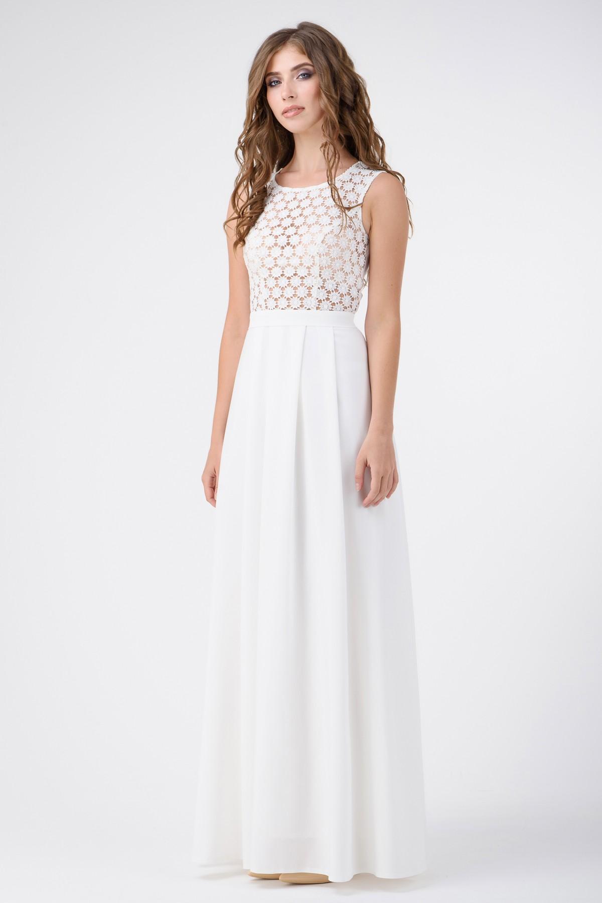 8c2c6e7adb1 Вечернее платье в пол с гипюром