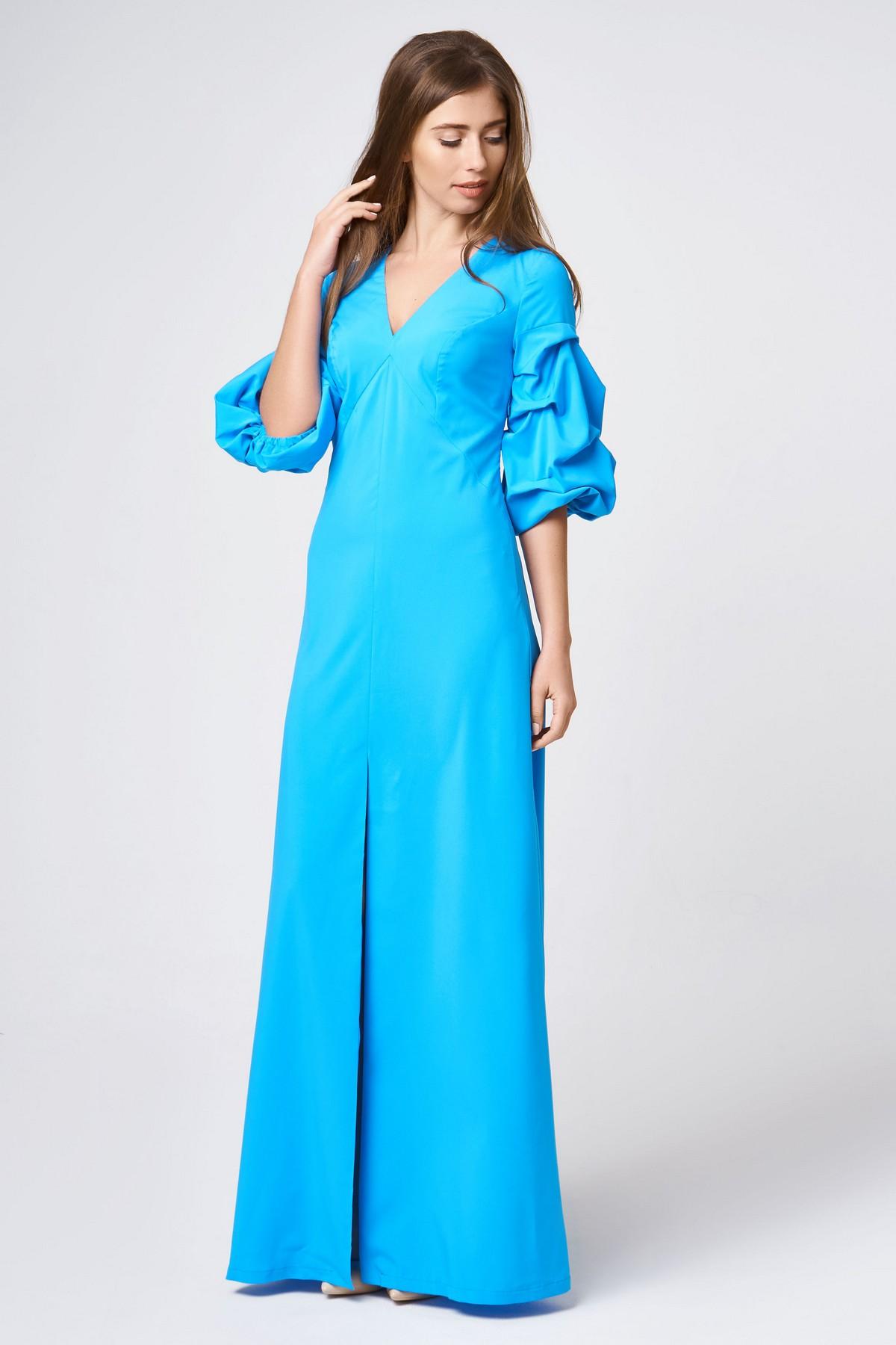 8dd0a538e7a Вечернее платье в пол с объемными рукавами