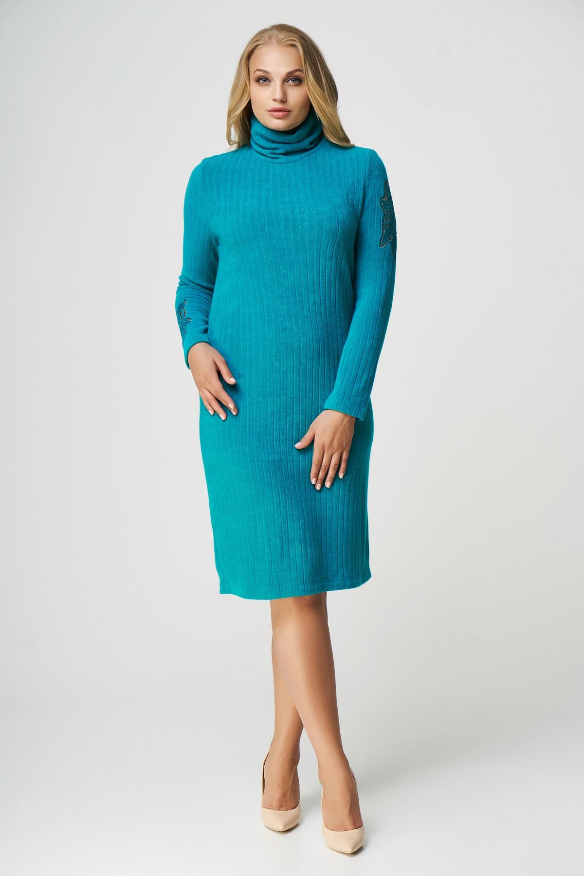 купить теплое платье большого размера