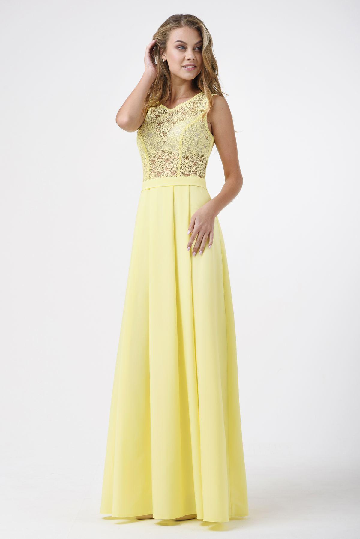 eb80bd4c7fd6 Купить Вечернее платье в пол с гипюром в интернет-магазине RicaMare ...