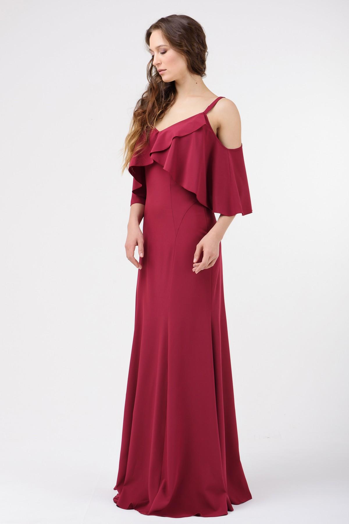 b53d2ff57585 Купить Вечернее платье с воланами в интернет-магазине RicaMare по ...