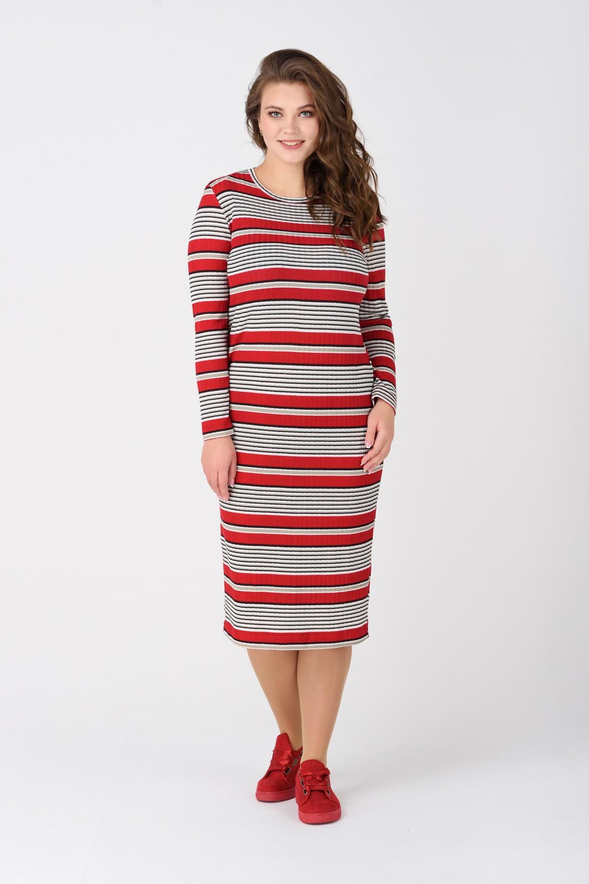 50cf8c1ff51 Платье-миди в полоску