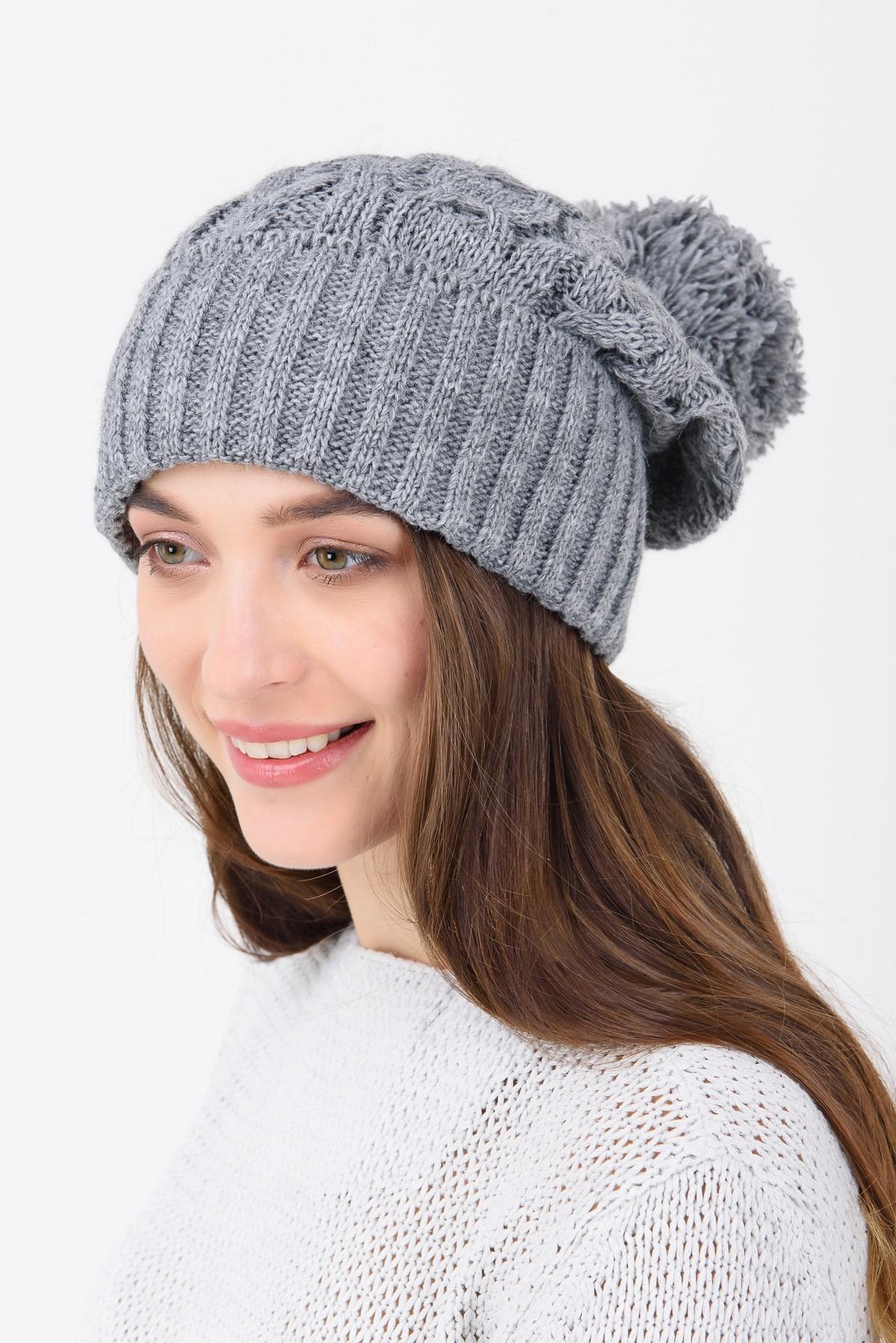 вязаная шапка с бубоном купить шапку за 300 грн в интернет