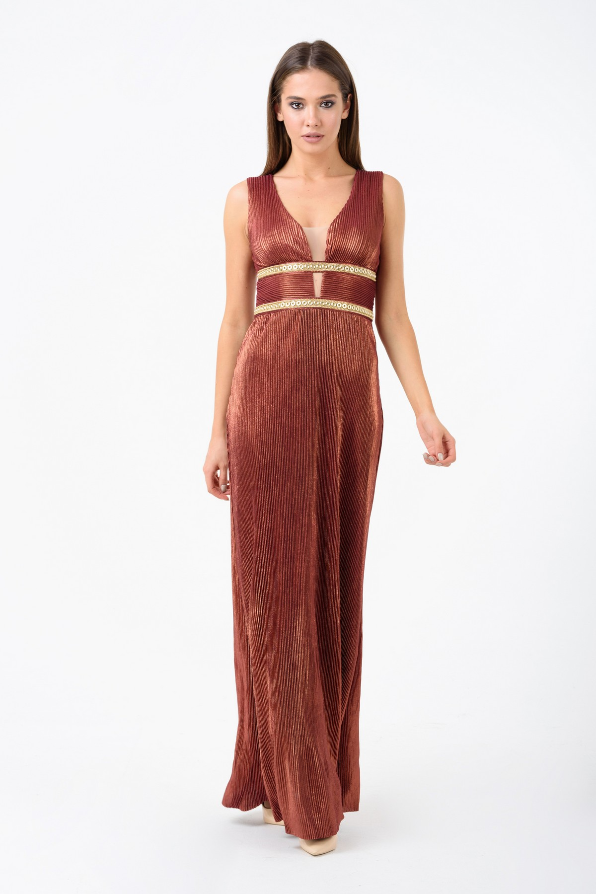 4571d93d40f Вечернее платье из жатого трикотажа