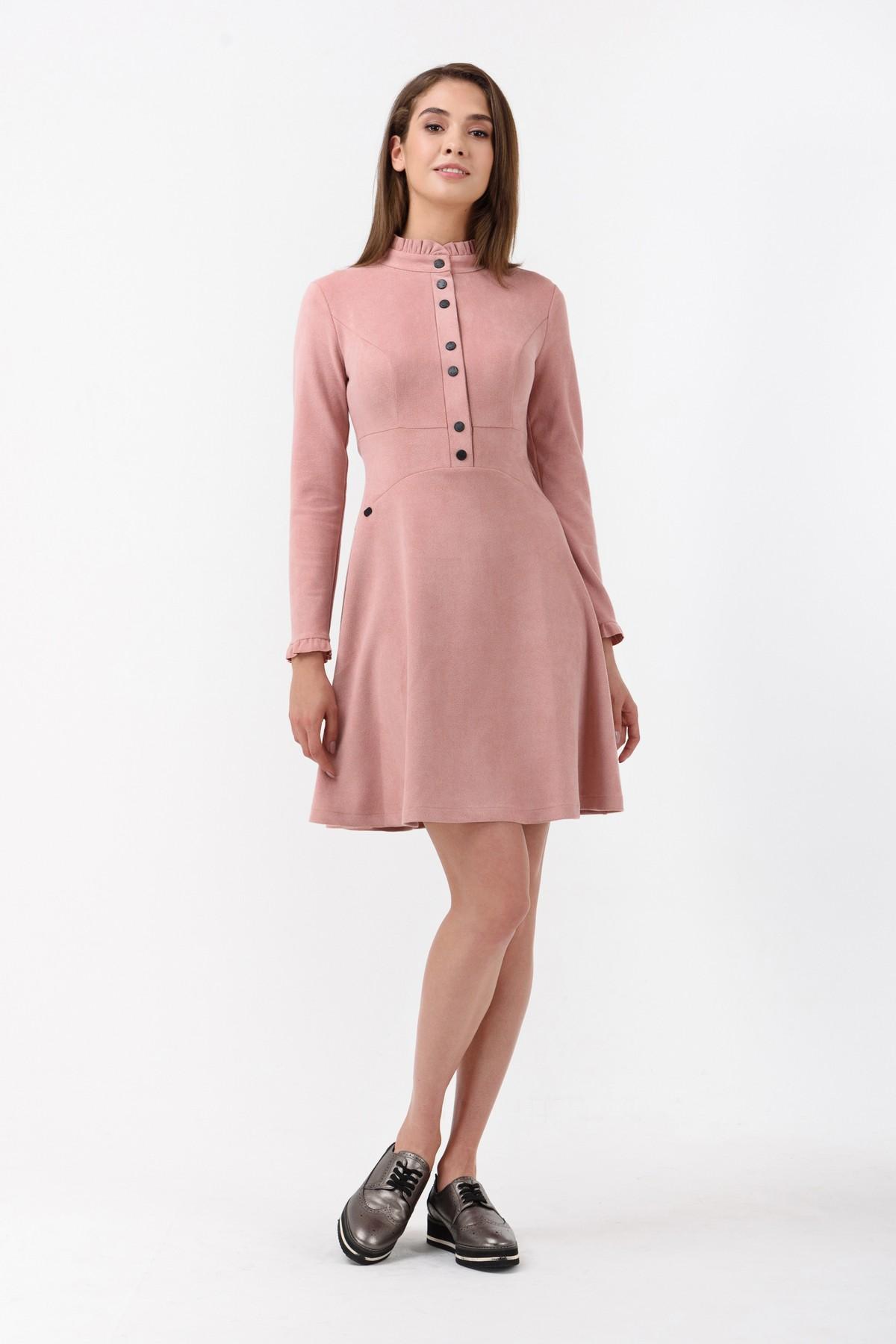 de1004a34991 Купить Осеннее платье с длинным рукавом и чокером в интернет ...