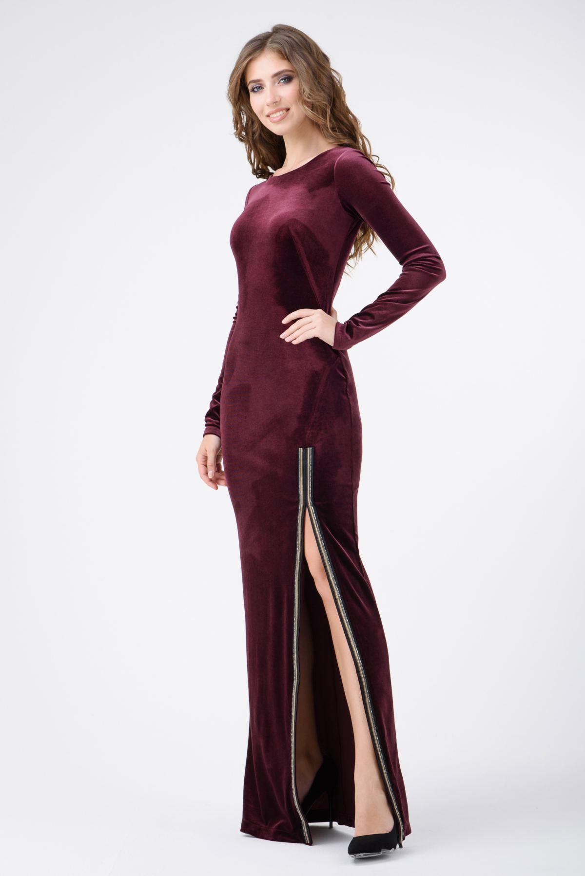 24dcf04c2f1 Вечернее платье в пол с разрезом