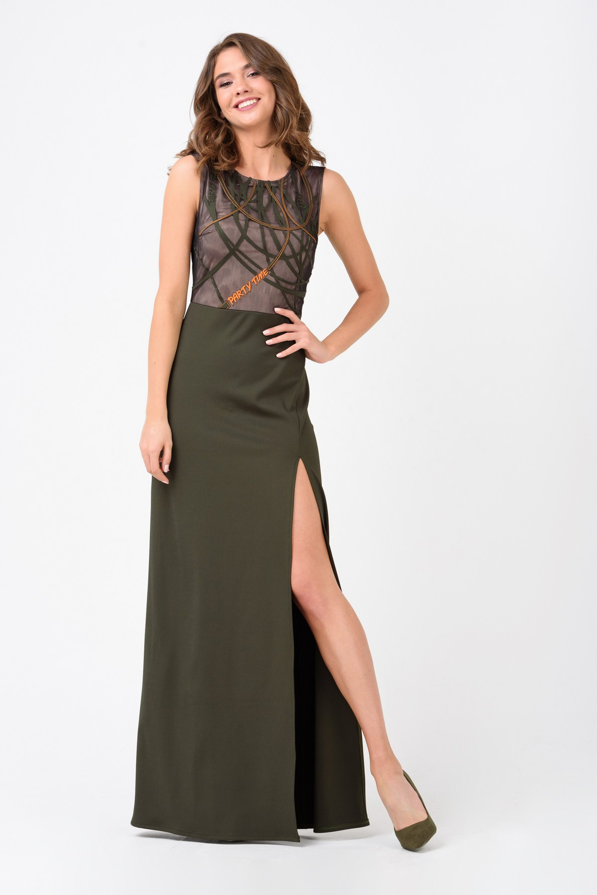 c0c407bd79a Вечернее платье в пол с разрезом