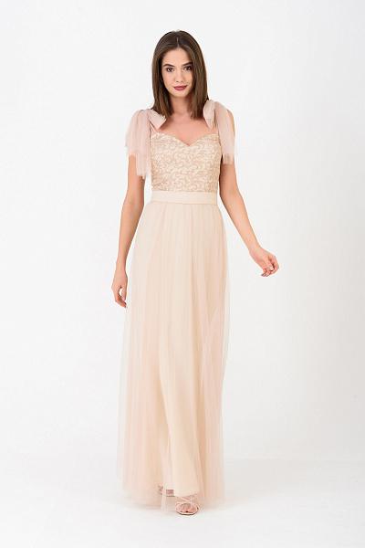 0980dff6803 ... Купить Вечернее платье в пол из гипюра
