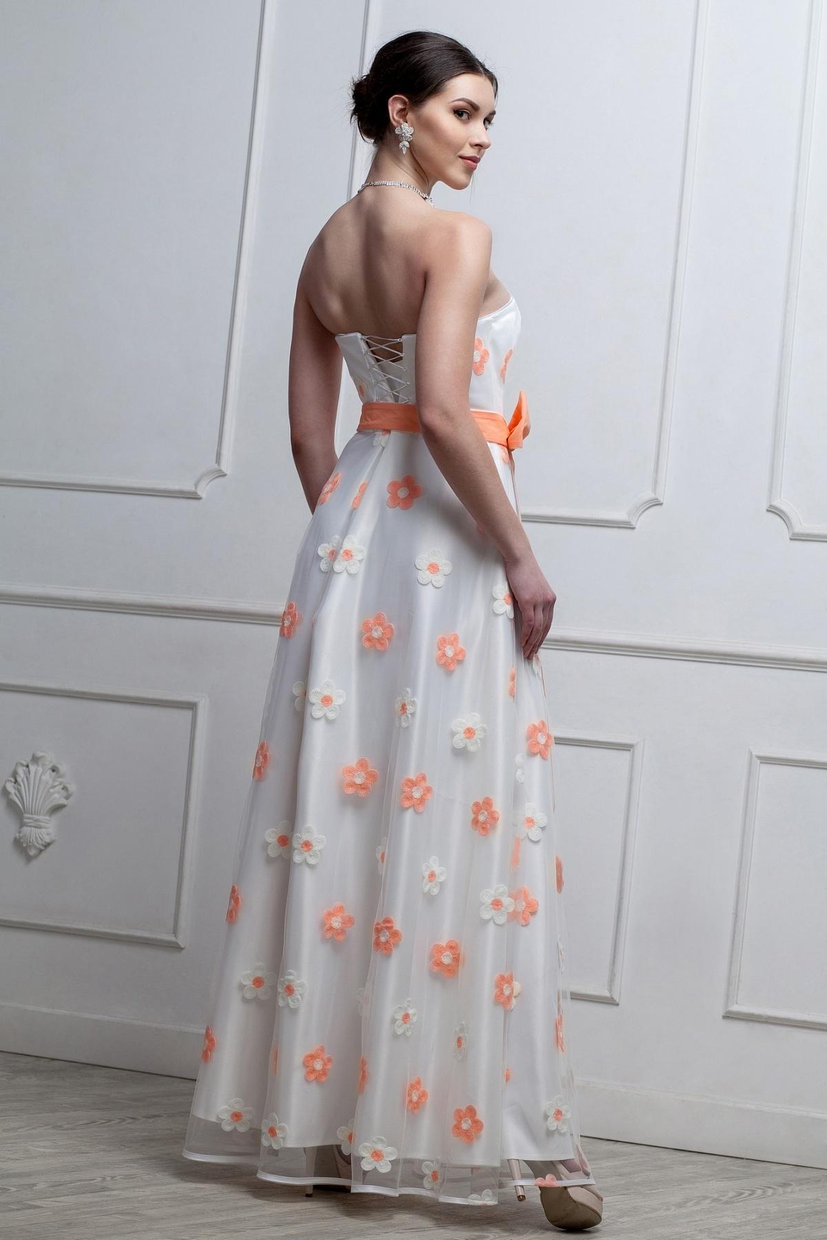c33d724a42e Длинное нарядное платье с цветами