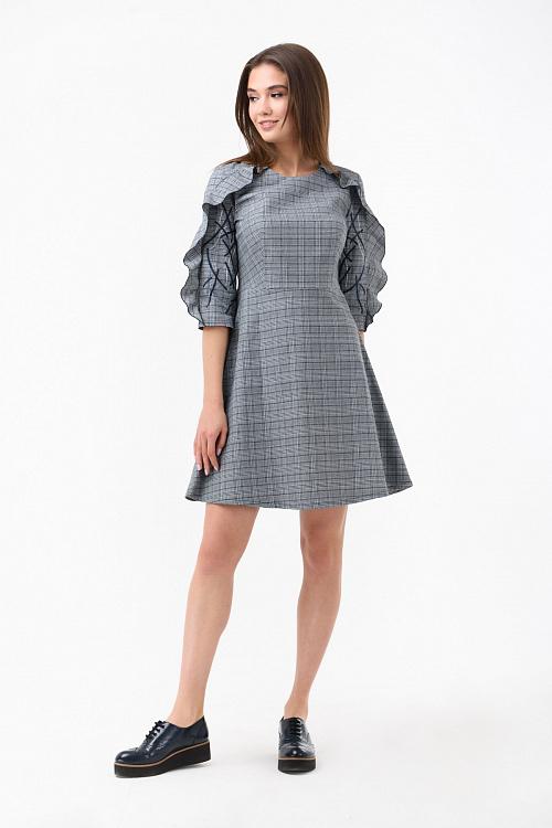 480c38573f16 Купить Осеннее платье с рюшами в интернет-магазине RicaMare по ...