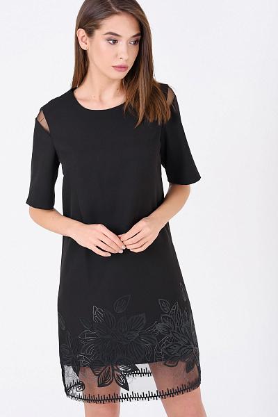 303c0bcfdca Купить Коктейльное платье прямого силуэта с вышивкой Купить Коктейльное платье  прямого силуэта с вышивкой ...