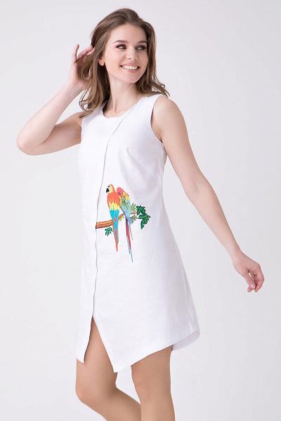 cafbb976806 Купить Летнее белое платье с вышивкой Купить Летнее белое платье с вышивкой  ...