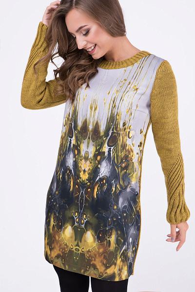 e0deeaad518 Купить Вязаное платье с авторским принтом Купить Вязаное платье с авторским  принтом ...
