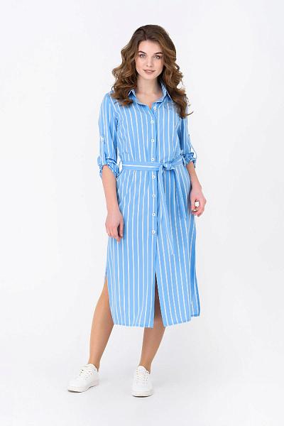 f223fdd90ab ... миди Купить Летнее платье в полоску